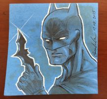Batman Post-it Note Illustration by GuanlinChen