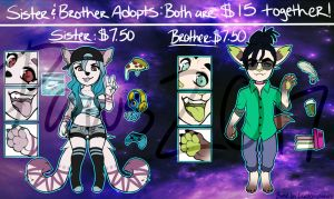 [CLOSED] Anthro Adopts #22-23 by TriggeredPaws