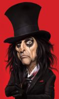 Alice Cooper Caricature by Nerafinuota