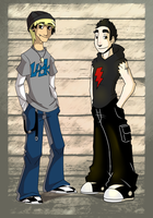 Fletcher and RJ by HiSS-Graphics