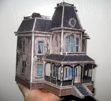The Bates House Papercraft! by ValhallaAsgard