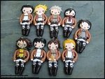 Attack on Titan Necklace Set by GrandmaThunderpants