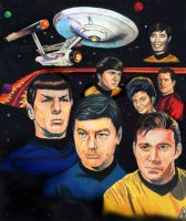 Star Trek prismacolor collage by choffman36
