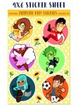 monster pop! volume 2 stickers by mayakern