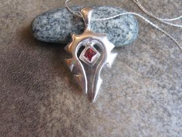 Silver and Garnet Horde Necklace by Peaceofshine