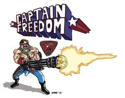 Captain Freedom Mini by gaudog