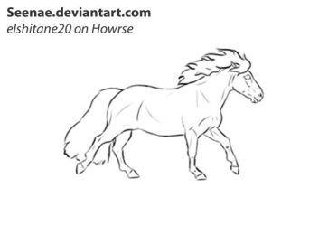 :Animation: Shetand cantering cycle by Seenae