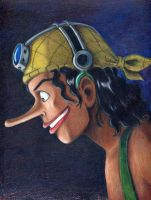 Usopp in Prismacolors by CosmicDebris