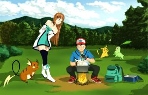 Pokemon: Haine and Ash journey by OrangeBox01