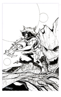 Rocket and Groot (Inked) by Hodges-Art