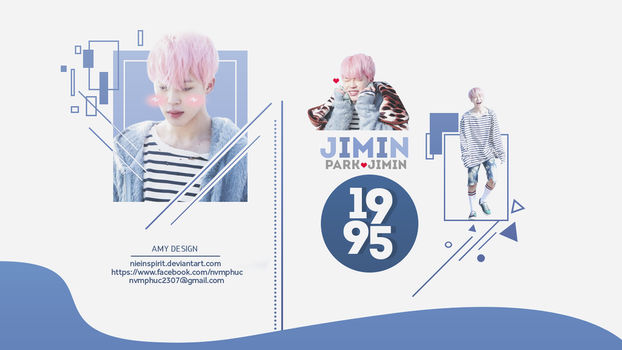 [PSD] Jimin Desktop Wallpaper by NieInspirit
