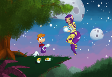 Rayman and Ly by TheDuckofIndeed