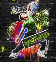 Graffiti Art Photoshop Action by hemalaya