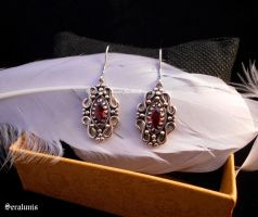 'Eastern treasure' sterling silver earrings by seralune