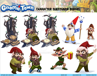 Disney's Gnometown Character Sheet 3 by RehanaKn
