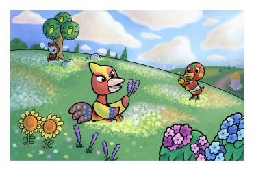 Field of Flowers by JellySoupStudios