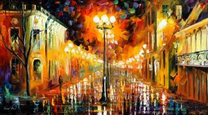 Night Mystery by Leonid Afremov by Leonidafremov