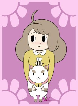 Bee and puppycat by Snowflake-owl
