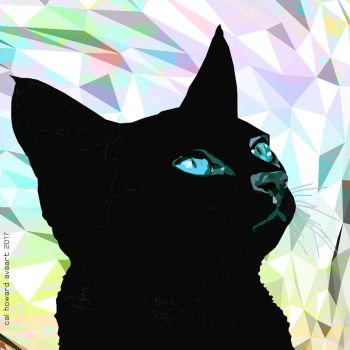 Black Poly Cat by AVAdesign