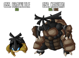 Fakemon: 55 - 56 by DrCrafty