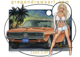 LOVE 2 69 fantasy auto pinup art by Greg Andrews by badass-artist