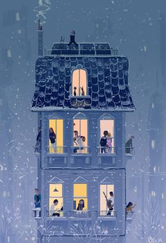 When the snow falls. by PascalCampion