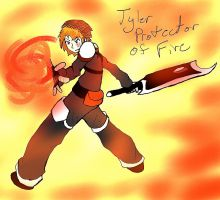 Tyler Protector of Fire by 13thprotector
