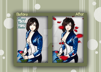 Before and After: 'Booker Dewitt's Birthday Gift!' by Chocolate-Pyrus