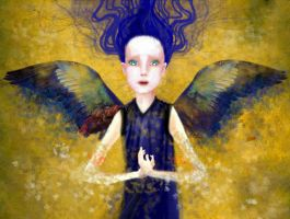 Angel, dissolving by meluseena