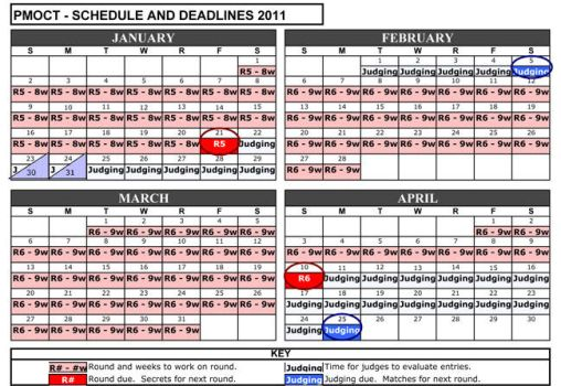 PMOCT Schedule 2011 by ProjectMinotaurOCT