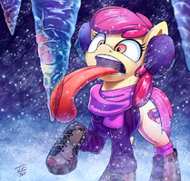 Apple Bloom in Snow by Tsitra360