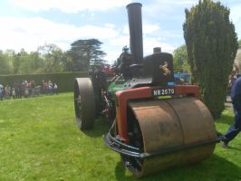 Steam roller at Stockwood 2015 by WhippetWild