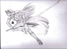 Art request: Sephiroth by NnekArt