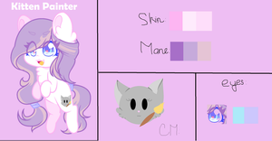 My New Oc - Kitten Painter by MusicStar123