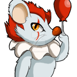 pennywise  mouse by pawzroo