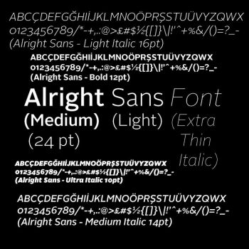 Alright Sans Font (Free) by Photo7Girl
