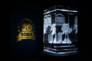 Sonic 20th Anniversary Crystal Cube by Cobra-Roll