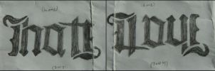 Hate-Love Ambigram by D1st0rtedFate