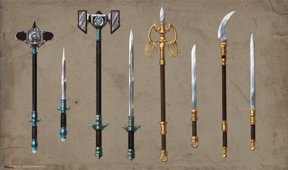 Alchemist Weapons Set Commission part 2 by ShadowDragon22