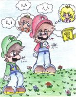 Mario- I think I'm in love... by TheDaisyfan9