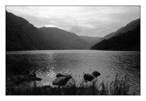 Lake at Glendalough by ash