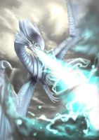 Blue-Eyes White Dragon by kukukuro