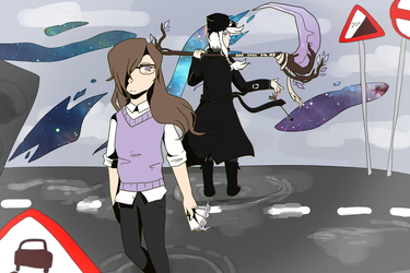 totally not kagerou days + turnover game + touhou by ospreybutt