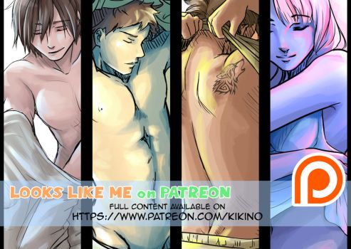 LLM - Undressing pose studies - PREVIEW by KikiKinchester