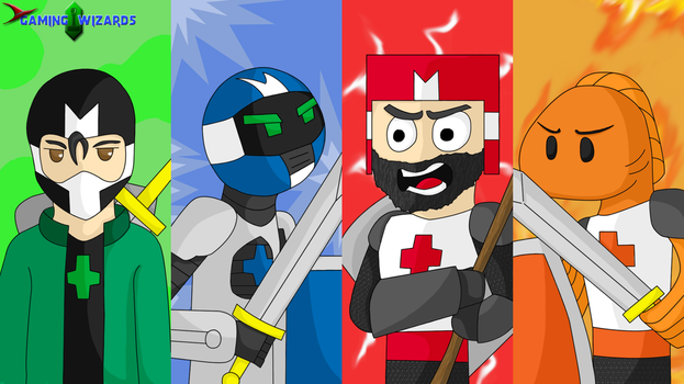 Gaming Wizards Castle Crashers desktop by Zanshlou