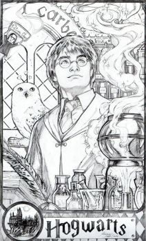 Harry Potter pinup by AdrianaMelo