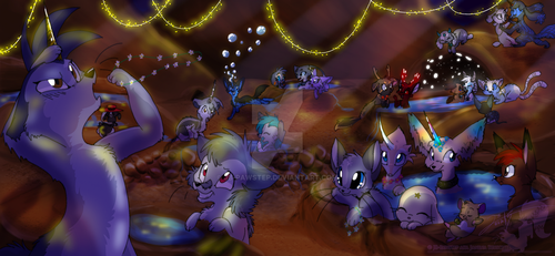 Party at Sapphire Springs by JB-Pawstep