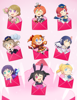 Love Live! UR Chibis by Gumwad201