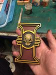 Painted Warhammer 40k Imperial Inquisition Rosette by DrMonkeyface