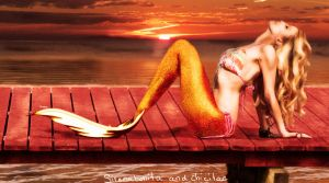 relaxing mermaid by Lolita-Artz